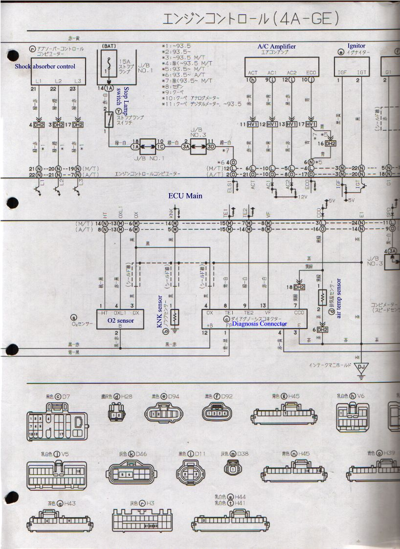 Lotus Europa Master Documentation Menu 64 Et Wiring Diagram Ae101 4a Ge 20v Ecuc 187k