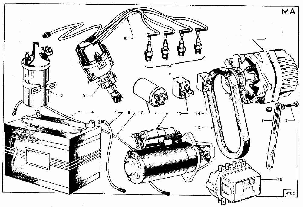 Tc Parts Manual A074e6005z Drawing Ma 15 Cam To
